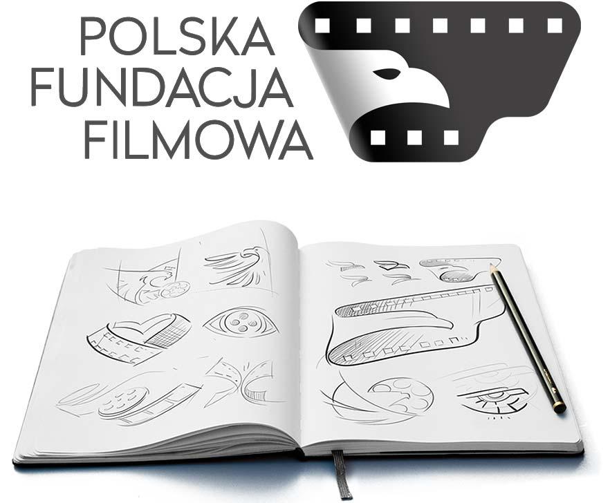 Przykład projektu logo firmy Polskiej Fundacji Filmowej