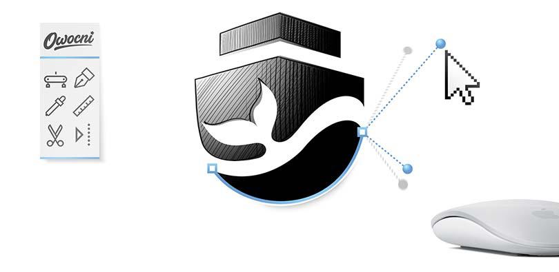Przykład projektu logo wykonanego na wektorach w programie Adobe