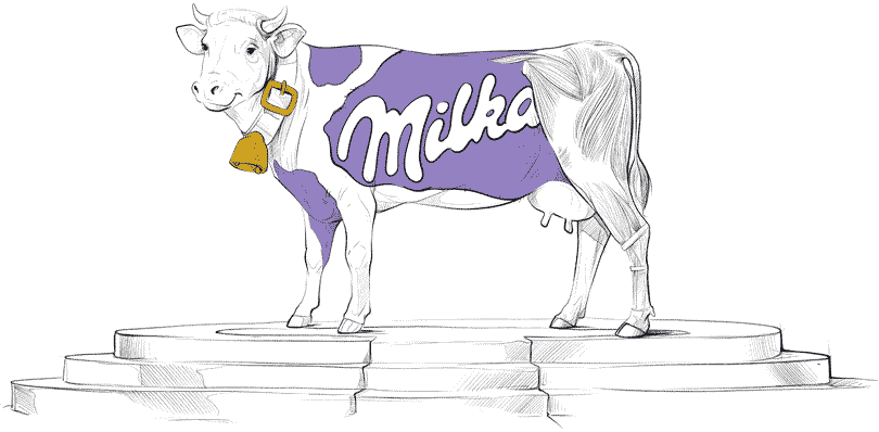Projektowanie logo, kolory Milk