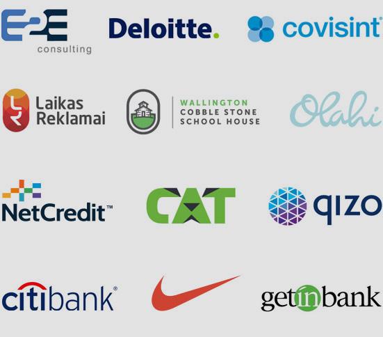 Przykłady pokazujące tworzenie różnych znanych logo firm.