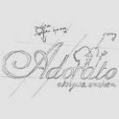 Szkic pokazuje jak tworzy się logo Adorato.