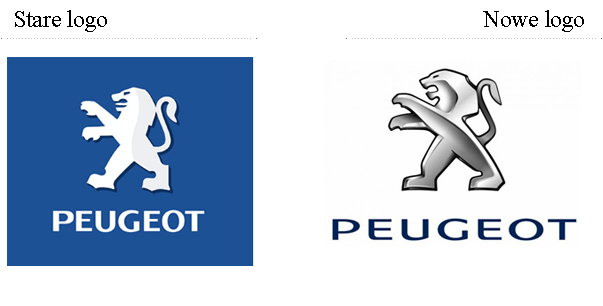 stary i nowy logotyp Peugeot