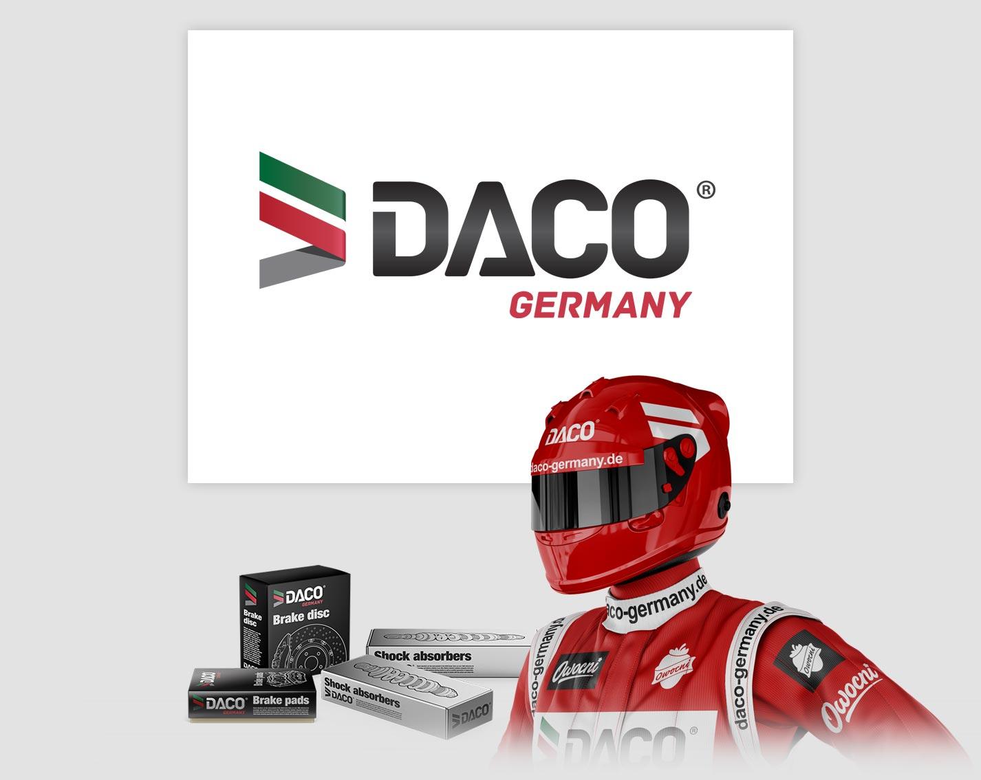 Profesjonalny projekt logo dla firmy Daco