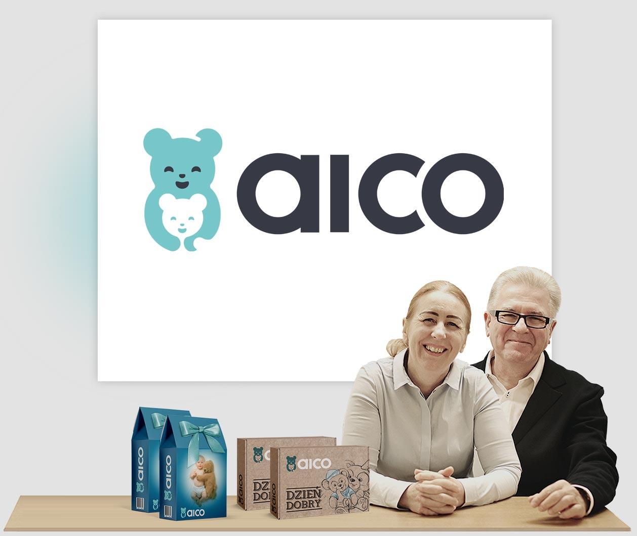 Aico jako przykład procesu w projektowaniu logo