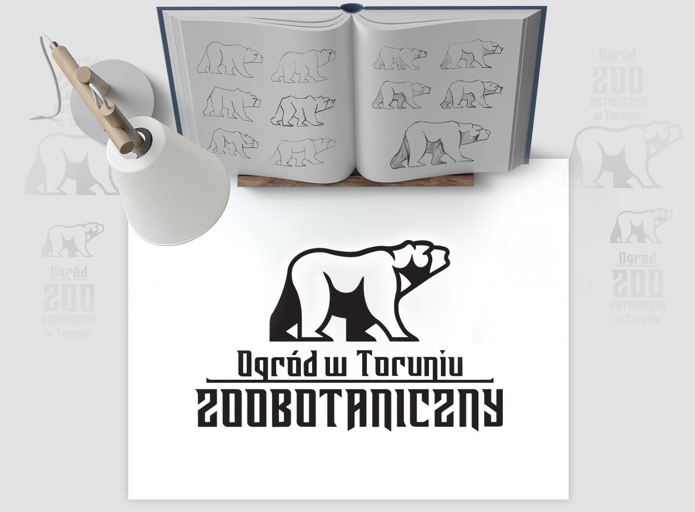Logo firmy wizualizowane na kartce